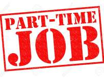 PART-TIME JOB red Rubber Stamp over a white background.